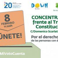 """Concentración """"Por el derecho a votar de las pcd"""""""