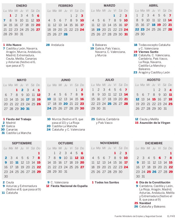 Calendario Laboral Pais Vasco 2019.El Boe Publica El Calendario Laboral Para 2019 Ugt Ilunion Outsourcing