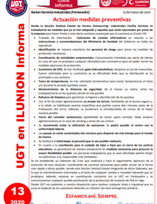 Comunicado 13 (Pontevedra)
