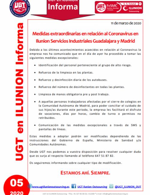 Comunicado 05 (Guadalajara y Madrid)
