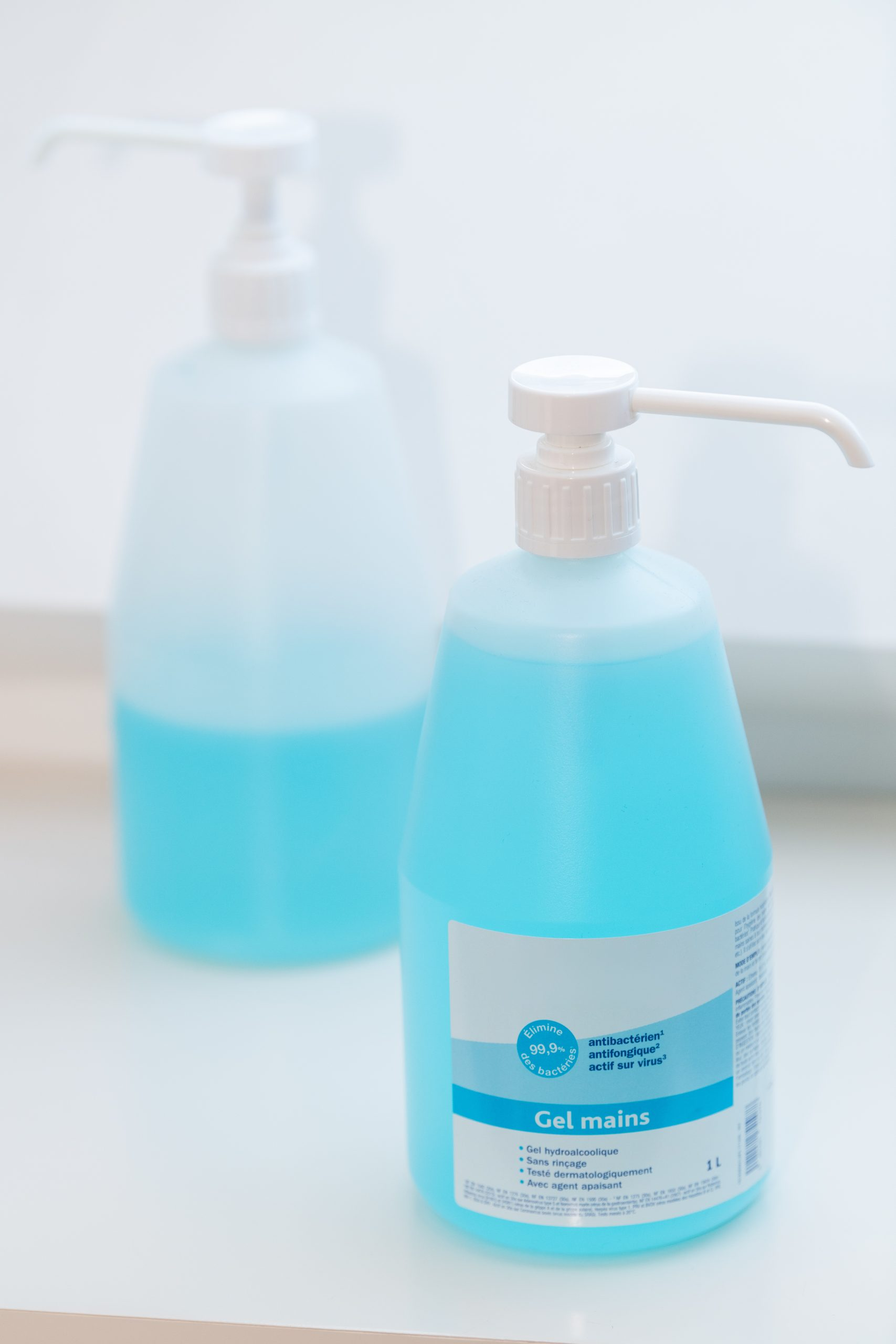 Paris, France -March, 04, 2020 : hydroalcoholic gel for hands, to prevent illness an Coronavirus