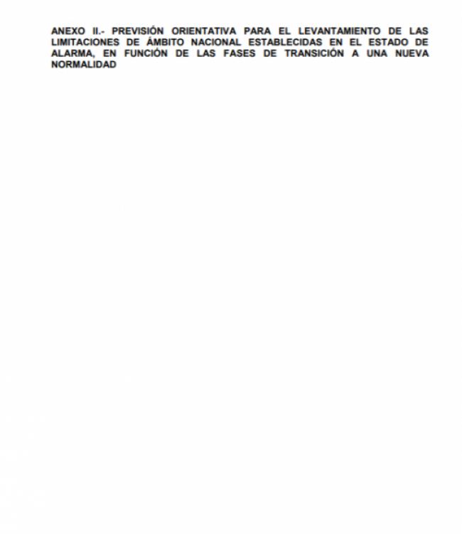 Anexo II. Previsión orientativa para el levantamiento
