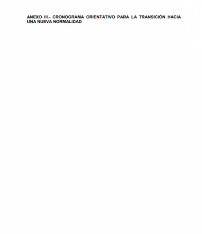 Anexo III. Cronograma orientativo