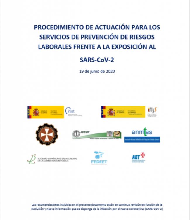 PROCEDIMIENTO DE ACTUACIÓN PARA LOS  SERVICIOS DE PRL FRENTE AL COVID-19