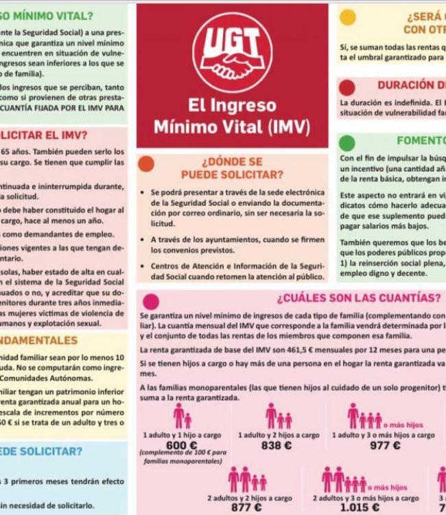 Ingreso Mínimo Vital (Resumen UGT)